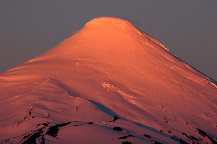 Top of the Osorno Volcano Chile