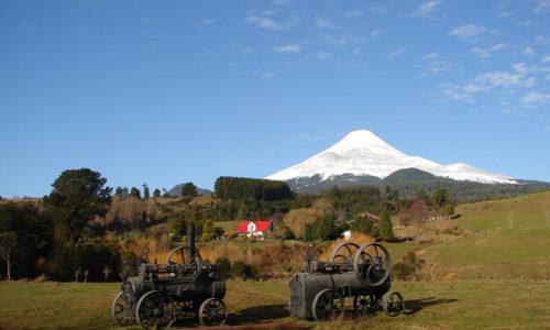 Farm near Osorno Volcano in Chile