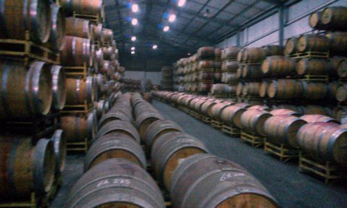 Wine barrels Santa Rita vineyard Chile