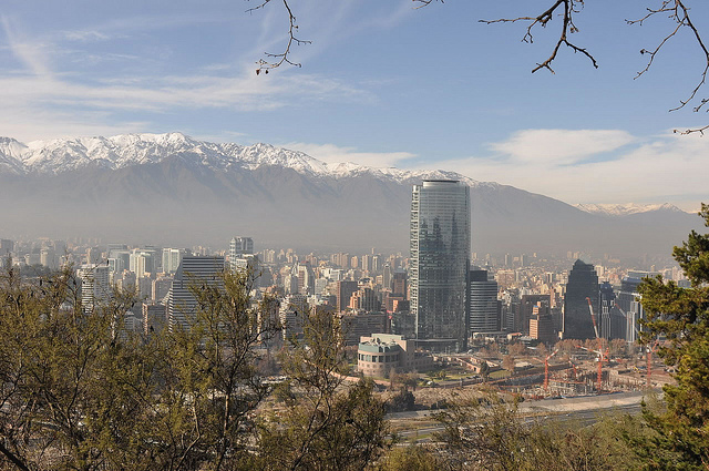 Santiago Chile from the San Cristobal Hill