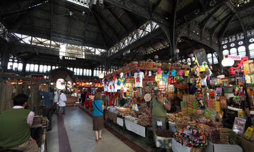 Inside the Central Market in Santiago Chile