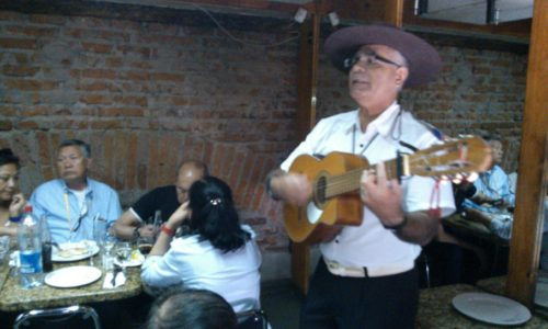 Santiago Chile - typical lunch and music