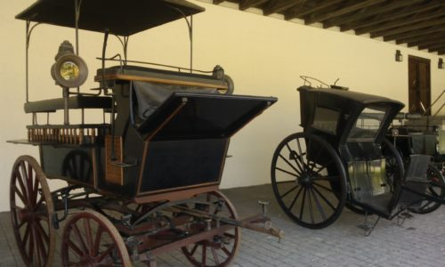 Carriage collection at Undurrage Vineyard Chile