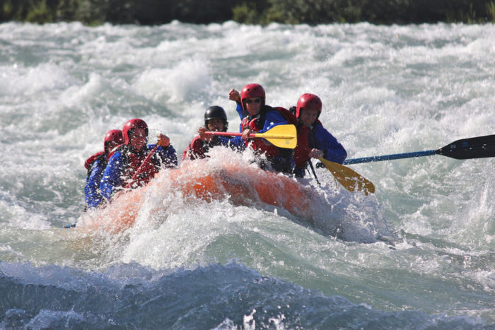 Rafting is fun in Chile