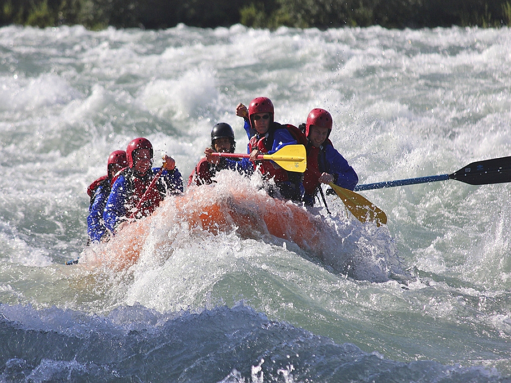 Rafting the rivers in Chile