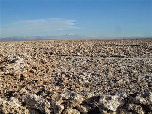 Atacama Salt Flat lake Chile