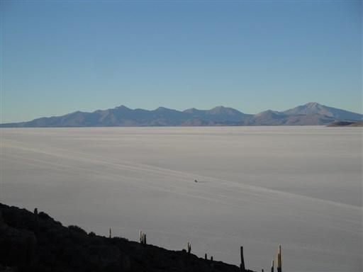 Incahuasi Island - Uyuni Salt Flat lake Bolivia